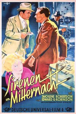 Outside the Law (1930 film) - 1930 theatrical poster (German)