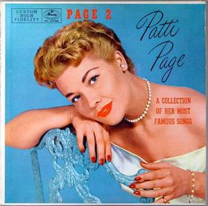 Page Two – Sings a Collection of Her Most Famous Songs - Image: Page Two – Sings a Collection of Her Most Famous Songs cover