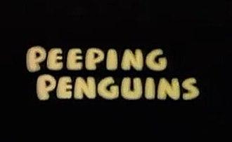 Peeping Penguins - The cartoon's title card