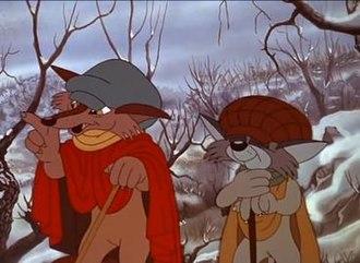 The Fox and the Cat - Il Gatto e la Volpe, as portrayed in Giuliano Cencis Un burattino di nome Pinocchio
