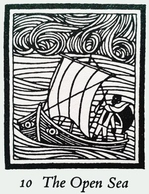 A Wizard of Earthsea - Illustration by Ruth Robbins for Chapter 10