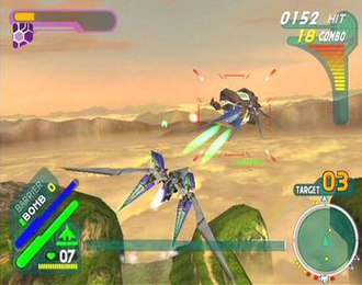 Star Fox: Assault - Fox helps destroy the aparoids that have appeared on Sauria with his Arwing in a similar manner to previous titles