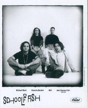 School of Fish - School of Fish, 1991.  L-R: Michael Ward, Dominic Nardini, Michael Petrak, and Josh Clayton-Felt.