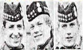 1971 Scottish soldiers' killings - John McCaig, Dougald McCaughey, and Joseph McCaig, the three killed Scottish soldiers