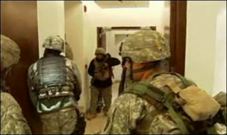 2008 Kabul Serena Hotel attack - U.S. and Afghan soldiers search through the Hotel Serena in Kabul, Afghanistan, after the attack.