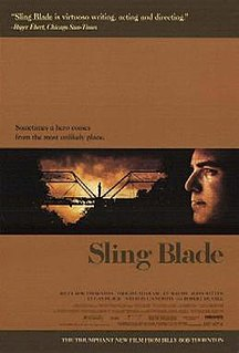 <i>Sling Blade</i> 1996 US drama film by Billy Bob Thornton