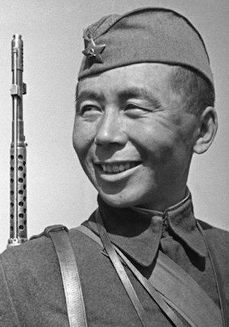 Tsyrendashi Dorzhiev - Image: Soviet Sniper Tsyrendashi Dorzhiev (June 1942)