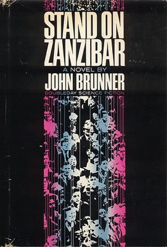 Stand on Zanzibar - Cover of first edition (hardcover)