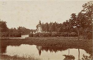 Vondelpark - The statue of Joost van den Vondel in the late 19th century