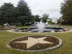 Church Green (Taunton, Massachusetts) - Vietnam Memorial Fountain on Church Green with Vietnam Memorial and Global War on Terrorism Memorial
