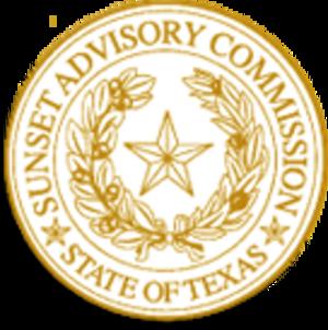 Sunset Advisory Commission - Image: Texas sunset advisory commission logo