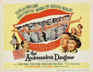 <i>The Ambassadors Daughter</i> (1956 film) 1956 film by Norman Krasna