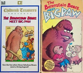 The Berenstain Bears Meet Bigpaw - VHS editions of Bigpaw. The special was originally released by Embassy Home Entertainment (1987) and then by Kids Klassics (1989). The special has also been made available on LaserDisc and DVD.