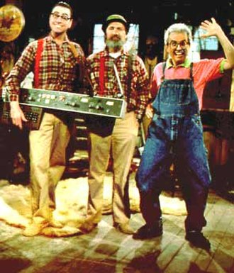 The Red Green Show - From left to right, Harold (Patrick McKenna), Red (Steve Smith) and Bill (Rick Green).