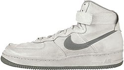 Original colorway of Nike Air Force shoe from 1982 (now known as Air Force  1)