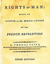Thomas Paine, Rights of Man, 1791.jpg