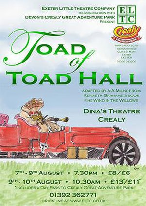 Toad of Toad Hall - Poster for a 2008 theatrical production of Toad of Toad Hall