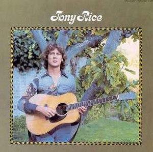 Tony Rice (album) - Image: Tony Rice album