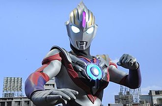 Ultraman Orb - Ultraman Orb, the series' titular character, in Spacium Zeperion, which bears elements from Ultraman and Ultraman Tiga.
