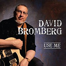 David Bromberg, seated, and holding an electric guitar