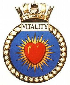 HMS Untamed - Image: VITALITY badge 1