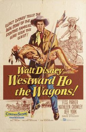 Westward Ho the Wagons! - Theatrical release poster