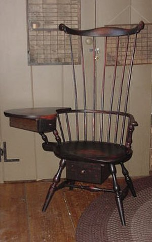 Windsor chair - Comb-back Windsor writing chair