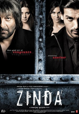 Zinda (film) - Theatrical release poster