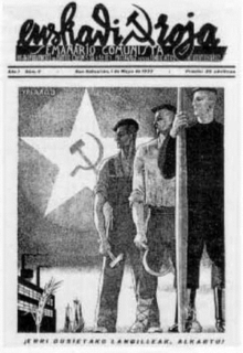 <i>Euskadi Roja</i> newspaper published by the Basque-Navarre Federation of the Communist Party of Spain