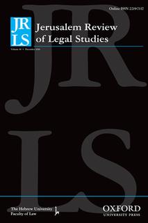 <i>Jerusalem Review of Legal Studies</i>