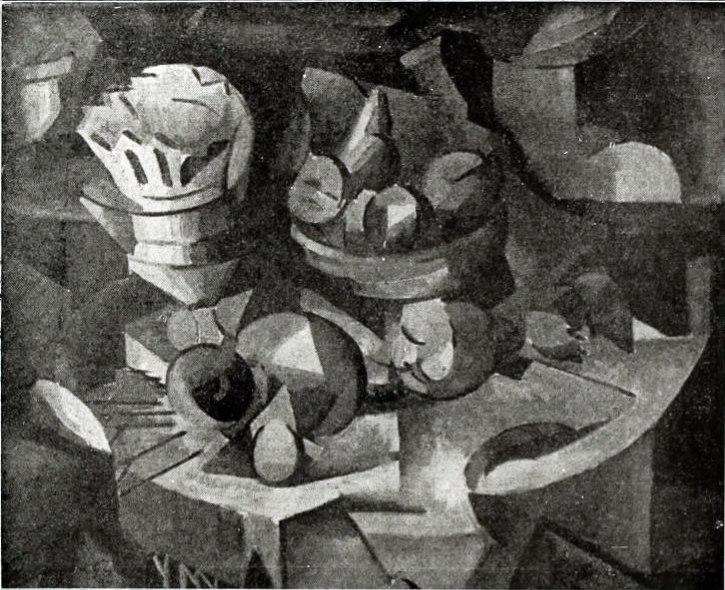 Albert Gleizes, 1911, Stilleben, Nature Morte, Der Sturm postcard, Sammlung Walden, Berlin. Collection Paul Citroen, sold 1928 to Kunstausstellung Der Sturm, requisition by the Nazis in 1937, and missing since