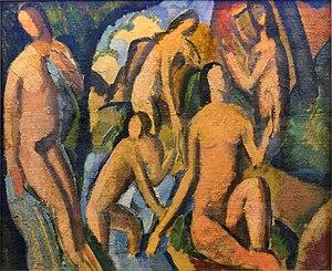 André Derain - André Derain, c.1908, Baigneuses (Esquisse), oil on canvas, 38 x 46 cm, Musée d'Art Moderne de la Ville de Paris