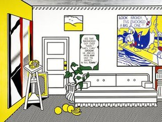<i>Artists Studio—Look Mickey</i> painting by Roy Lichtenstein