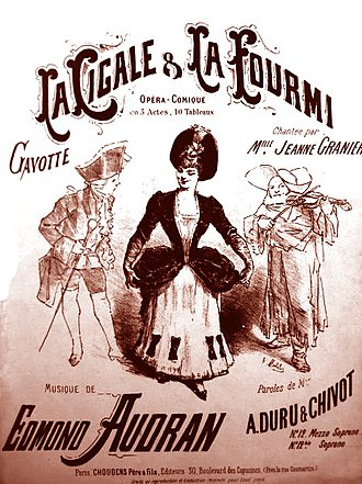 Edmond Audran - Sheet music for the gavotte from La cigale et la fourmi