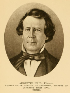 Augustus Hall American politician (1814-1861)