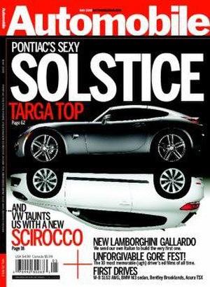 Automobile (magazine) - The June 2008 cover of Automobile.