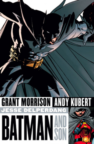 Batman and Son - Cover of the collection of the story arc. Art by Andy Kubert.