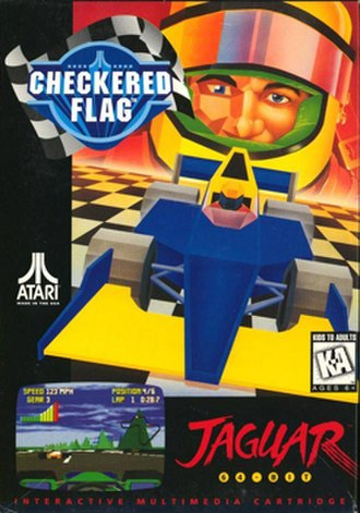 Checkered Flag (1994 video game) - Cover art in all regions