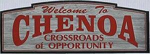 Chenoa, Illinois - Signage upon entering Chenoa.