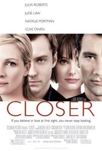 Closer (2004 film) - Theatrical release poster