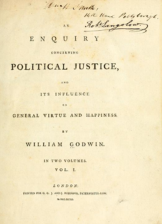 <i>Enquiry Concerning Political Justice</i> 1793 book by William Godwin