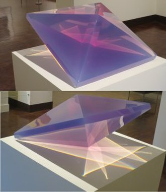 DeWain Valentine - Double Pyramid by DeWain Valentine, 1968, cast polyester resin, Honolulu Museum of Art