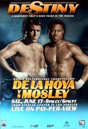 Oscar De La Hoya vs. Shane Mosley - Image: De La Hoya vs Mosley