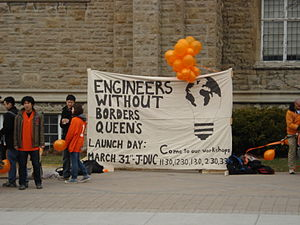 Engineers Without Borders (Canada) - Rally at Queen's University celebrating the launch of their chapter initiative in 2009