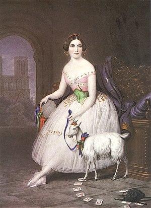 La Esmeralda (ballet) -  Fanny Cerrito in the title role of the Pugni/Perrot La Esmeralda, London, circa 1844.