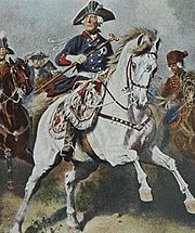 Frederick the Great during the Seven Years' War, painting by Richard Knötel.