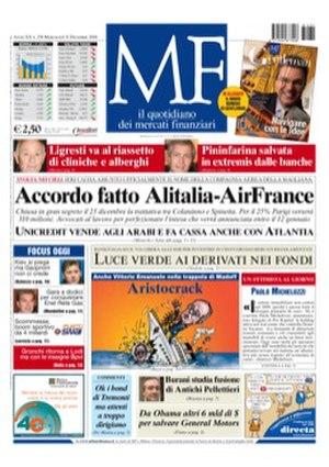 MF Milano Finanza - Image: Frontpage MF