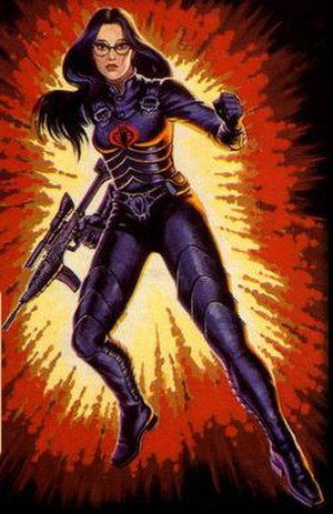Baroness (G.I. Joe) - Image of Baroness from the original G.I. Joe: A Real American Hero toyline