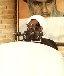 Grand Ayatollah Moslem Malakouti at Friday Prayers , Tabriz, Azerbaijan .JPG