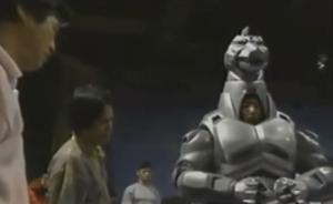 Godzilla vs. Mechagodzilla II - Wataru Fukuda during a suit-fitting session